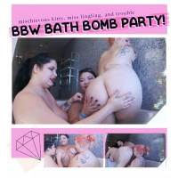 All-Girl BBW Bath Bomb Group Sex